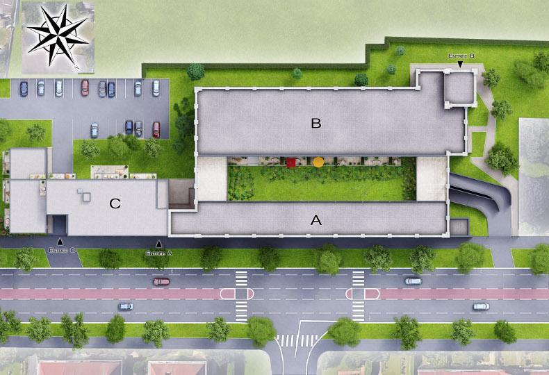 Plan masse du programme immobilier Neoximo Imagin à Roubaix Beaumont