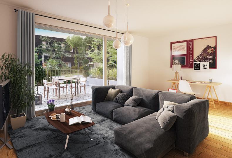 Programme immobilier Neoximo Dynamik à Lomme Euratechnologies vue intérieure